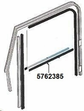 Door Belt Line Inner Glass Seal, Left Hand for Full Steel Doors, fits 1976-86 Jeep CJ & 1987-95 Wrangler