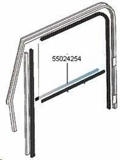 Door Belt Line Outer Glass Seal, Right Hand for Full Steel Doors, fits 1976-86 Jeep CJ & 1987-95 Wrangler