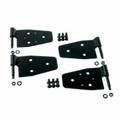 Door Hinge Kit, Black, 87-06 Jeep Wrangler by Rugged Ridge