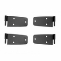 Door Hinge Kit, Black, 76-86 Jeep CJ Models by Rugged Ridge