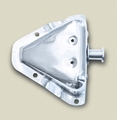 Door Latch Bracket, Stainless Steel, Left 81-95 Jeep CJ, Wrangler by Rugged Ridge
