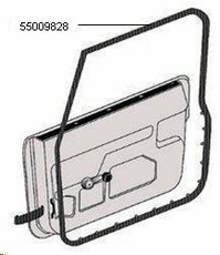 Door Seal (For Half Doors), Right, 1987-1995 Wrangler