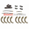 "Brake Rebuild Kit for 1952-1964 CJ3B, CJ5, CJ6 and M38A1 with 9"" Brakes"