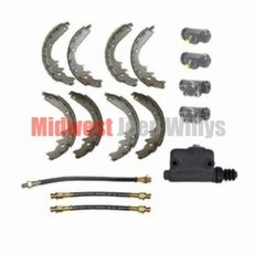 Brake Rebuild Kit with Angled Front Hose Connection for 1960-1971 Jeep CJ3B, CJ5, CJ6