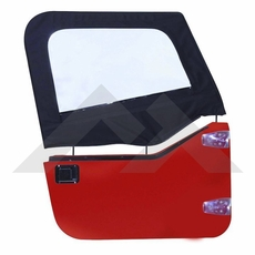 RT Off-Road Black Diamond Upper Door Skins for 1997-2006 Jeep Wrangler TJ