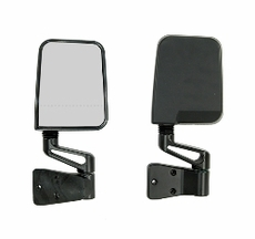 Door Mirror Kit, Dual Focus, Black, 87-02 Jeep Wrangler by Rugged Ridge