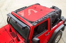 Eclipse Sun Shade, Red, 2-Dr, 07-17 Jeep Wrangler JK by Rugged Ridge