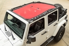 Eclipse Sun Shade, Red, 4-Dr, 07-17 Jeep Wrangler JK by Rugged Ridge