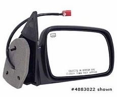 Electric Heated Mirror, Left Jeep Grand Cherokee (1993-1995); Left side; Black.