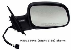 Electric Mirror, Left Jeep Grand Cherokee (1999-2002); Left side; Black.
