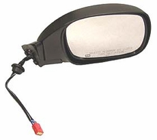 Electric Remote Mirror, Right (Black) Jeep Cherokee (1997-2001); Right side Black w/ Foldaway; Heated.