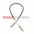 "Emergency Brake Cable, 42-1/4"" Long, Fits 1945-1948 Willys Jeep CJ2A Models"