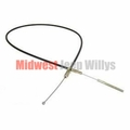 "Emergency Brake Cable, 63-5/8"" Long, fits 1953-1971 Jeep CJ3B, CJ5 and CJ6"