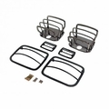 Euro Guard Kit, Black Chrome, 87-95 Jeep Wrangler by Rugged Ridge