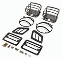 Euro Guard Kit, Black Chrome, 97-06 Jeep Wrangler by Rugged Ridge