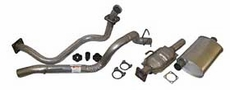 Exhaust Kit Jeep Wrangler (1987-1992) with 2.5L engine