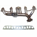 EXHAUST MANIFOLD KIT W/GASKET, JEEP CHEROKEE 1987-1990 W/ 4.0L ENGINE