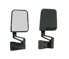 Door Mirror Kit, Black, 87-02 Jeep Wrangler by Rugged Ridge