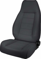 High-Back Front Seat, Reclinable, Black Denim, 76-02 Jeep CJ, Wrangler by Rugged Ridge