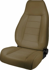 High-Back Front Seat, Reclinable, Tan, 76-02 Jeep CJ and Wrangler by Rugged Ridge