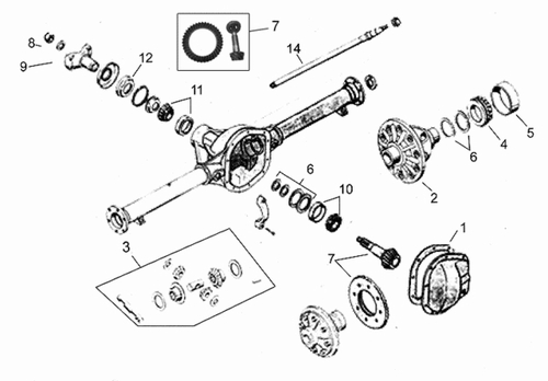 Forward Control FC150 Rear Axle Parts