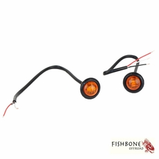 """Fishbone Offroad 3/4"""" Amber LED Light Set for Universal Jeep Applications"""