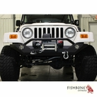 Fishbone Offroad Front Winch Bumper with LED's, Fits 1987 to 2006 YJ and TJ Wrangler, Rubicon and Unlimited