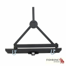 Fishbone Offroad Rear Bumper and Tire Carrier, Fits 1987 to 2006 YJ and TJ Wrangler, Rubicon and Unlimited