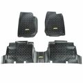 Outland Black Floor Liner Kit for 2007-2017 Jeep Wrangler JK Unlimited 4-Door