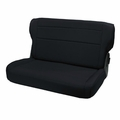 Fold and Tumble Rear Seat, Black, 76-95 Jeep CJ and Wrangler by Rugged Ridge