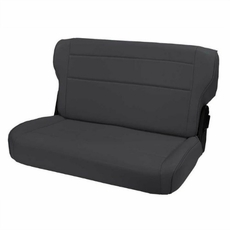 Fold and Tumble Rear Seat, Black Denim, 76-95 Jeep CJ and Wrangler by Rugged Ridge
