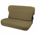 Fold and Tumble Rear Seat, Tan, 76-95 Jeep CJ and Wrangler by Rugged Ridge