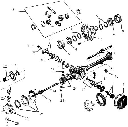 Jeep Willys Dana 25, 27 Axle Parts