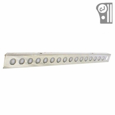 Stainless Steel Front Bumper With Holes, 55-86 Jeep CJ Models by Rugged Ridge