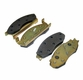 Front Disc Brake Pad Set, 1978-81 Jeep CJ with Two Bolt Caliper Plate