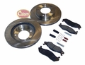Front Disc Brake Service Kit, 1981-86 Jeep CJ5, CJ7, CJ8 W/ 5-Bolt Flange Mounting