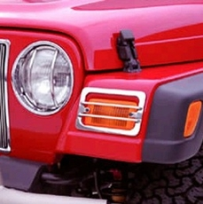 Euro Guard Set, Stainless Steel, 87-95 Jeep Wrangler by Rugged Ridge