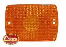 Front Parking Lamp, Amber, fits 1987-95 Jeep Wrangler YJ