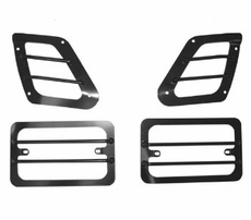 Euro Style Turn Signal and Side Marker Guard, 97-06 Jeep Wrangler by Rugged Ridge
