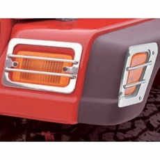 Euro Guard Set, Stainless Steel, 97-06 Jeep Wrangler by Rugged Ridge