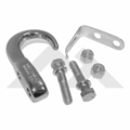 RT Off Road Tow Hook Kit, Chrome, 1955-1986 Jeep CJ Models