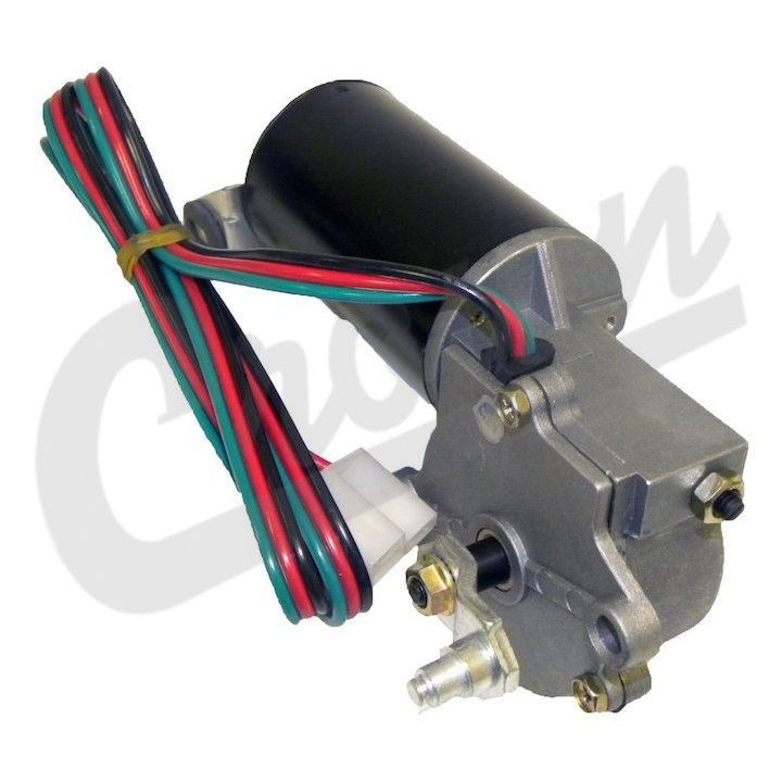 j5453956 front windshield wiper motor with 3 wire plug, fits 1976-83 jeep  cj5, cj7 & cj8