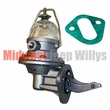 Fuel Pump with Glass Fuel Bowl, Fits 1941-1966 MB, GPW, DJ3A, Jeep CJ's, FC150, Pick-Up Truck, Station Wagon and Jeepster