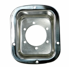 Fuel Filler Bezel, Stainless Steel, 76-95 Jeep CJ and Wrangler by Rugged Ridge