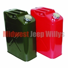 Gloss Red Replacement Jerry Can with 5 gallon capacity Fits All Jeep Vehicles