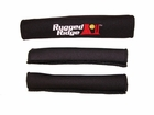 Neoprene Door and Grab Handle Covers, Black, 87-95 Jeep Wrangler by Rugged Ridge