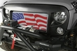 ( 1203422 ) Grille Insert, American Flag, 07-17 Jeep Wrangler JK by Rugged Ridge
