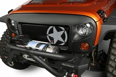 Grille Insert, Military Star, 07-17 Jeep Wrangler JK by Rugged Ridge