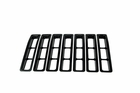 Grille Inserts, Black, 97-06 Jeep Wrangler by Rugged Ridge