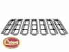 Grille Inserts, Chrome, 7 Plastic Snap-In Inserts, 2007-11 Jeep Wrangler JK & Jeep Wrangler JK Unlimited